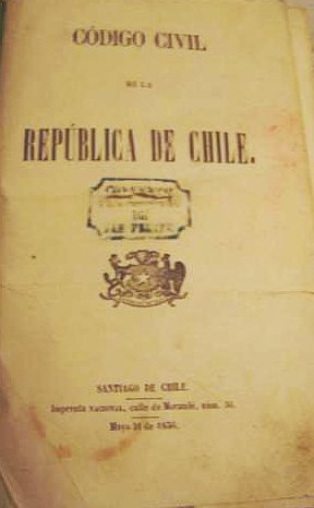 Chilean Code Front page of First Edition 1856