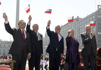 Five presidents of Chile